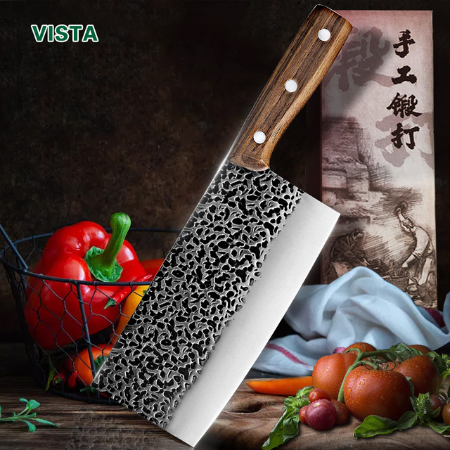 Hand-Made Stainless Steel Chopping Cleaver 1