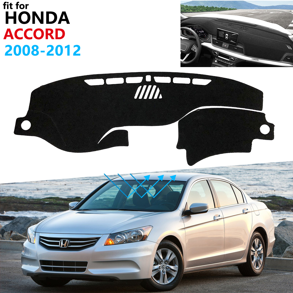 Dashboard Cover Protective Pad for <font><b>Honda</b></font> <font><b>Accord</b></font> 8 2008 2009 2010 <font><b>2011</b></font> 2012 Car <font><b>Accessories</b></font> Dash Board Sunshade Carpet Rug image