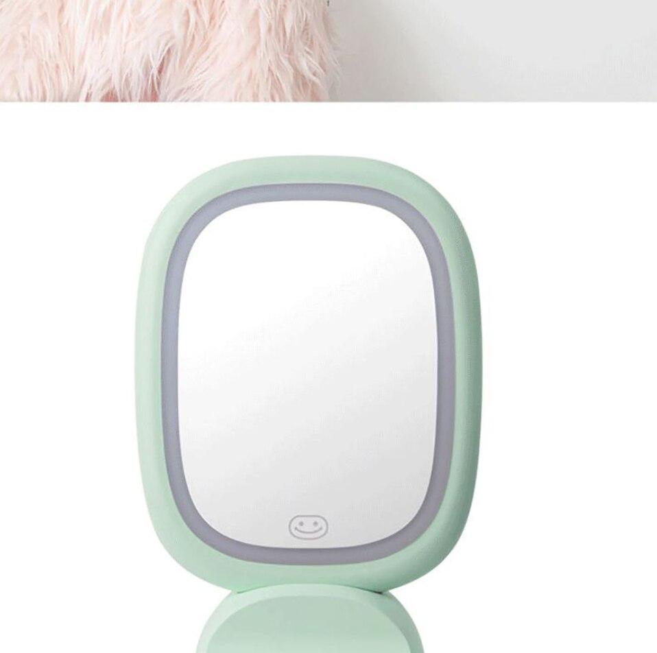 Destacável led espelho de maquiagem recarregável parede