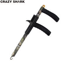 CrazyShark Aluminum Hook Remover 9.6in/245mm Camouflage Hook Detacher Portable Fishing Lure Remover Decoupling Tools For Fishing