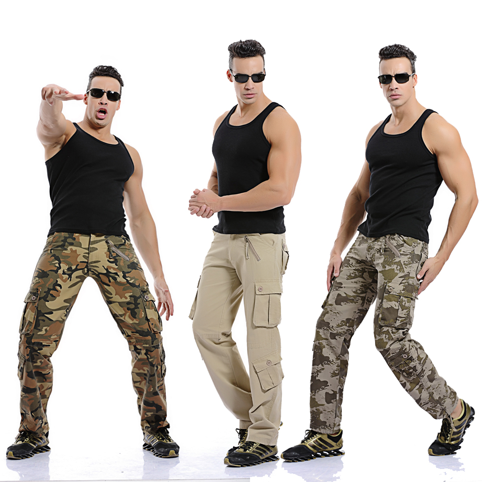 Hot sale free shipping men cargo pants camouflage  trousers military pants for man 7 colors 5