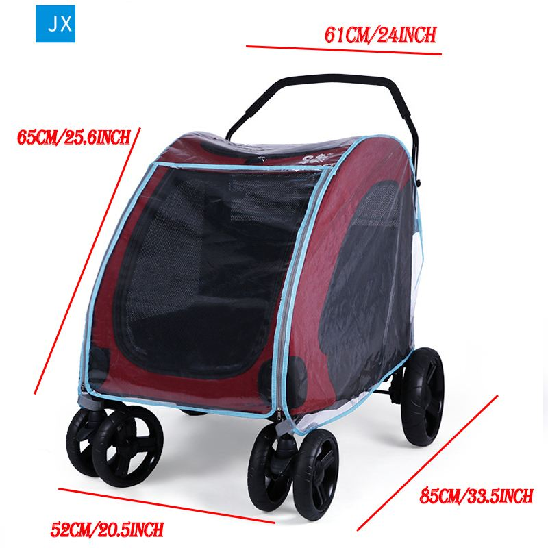 Pet Stroller Rain Cover Stroller Rain Cover Cart Rain Cover for All Kinds of Cat and Dog Carts 10