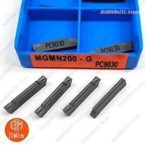 Image 4 - Hoja de carburo ranurado, 10 Uds., MGMN200 G, PC9030, 2mm, hoja de corte de doble cabezal, herramienta de torno MGMN200 G, MGMN200 G PC9030