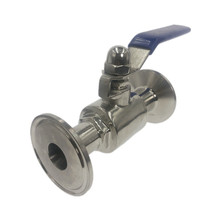 """3/4"""" 19mm 304 Stainless Steel Sanitary Ball Valve  Tri Clamp Ferrule Type For Homebrew Diary Product"""