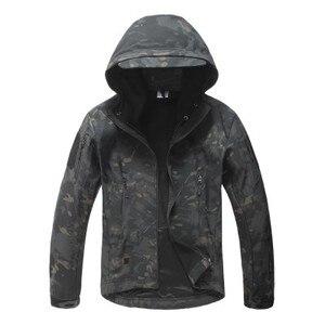 Image 4 - Lurker 상어 피부 Softshell V5 군사 전술 재킷 남자 방수 코트 위장 후드 군대 카모 의류