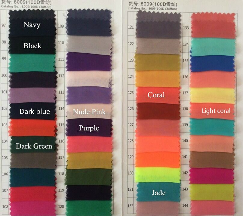 Just One Piece Of Chiffon Fabrics ( Please Tell Me Color Number .we Will Just Sent One Piece Of The Color You Like (3-5 Cm))