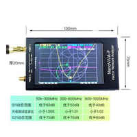 Nanovna-f VNA Nano analizador portátil de red vectorial SWR Meter 50k-1,5 GHz 4,3 pulgadas IPS TFT Digital de onda corta MF HF VHF