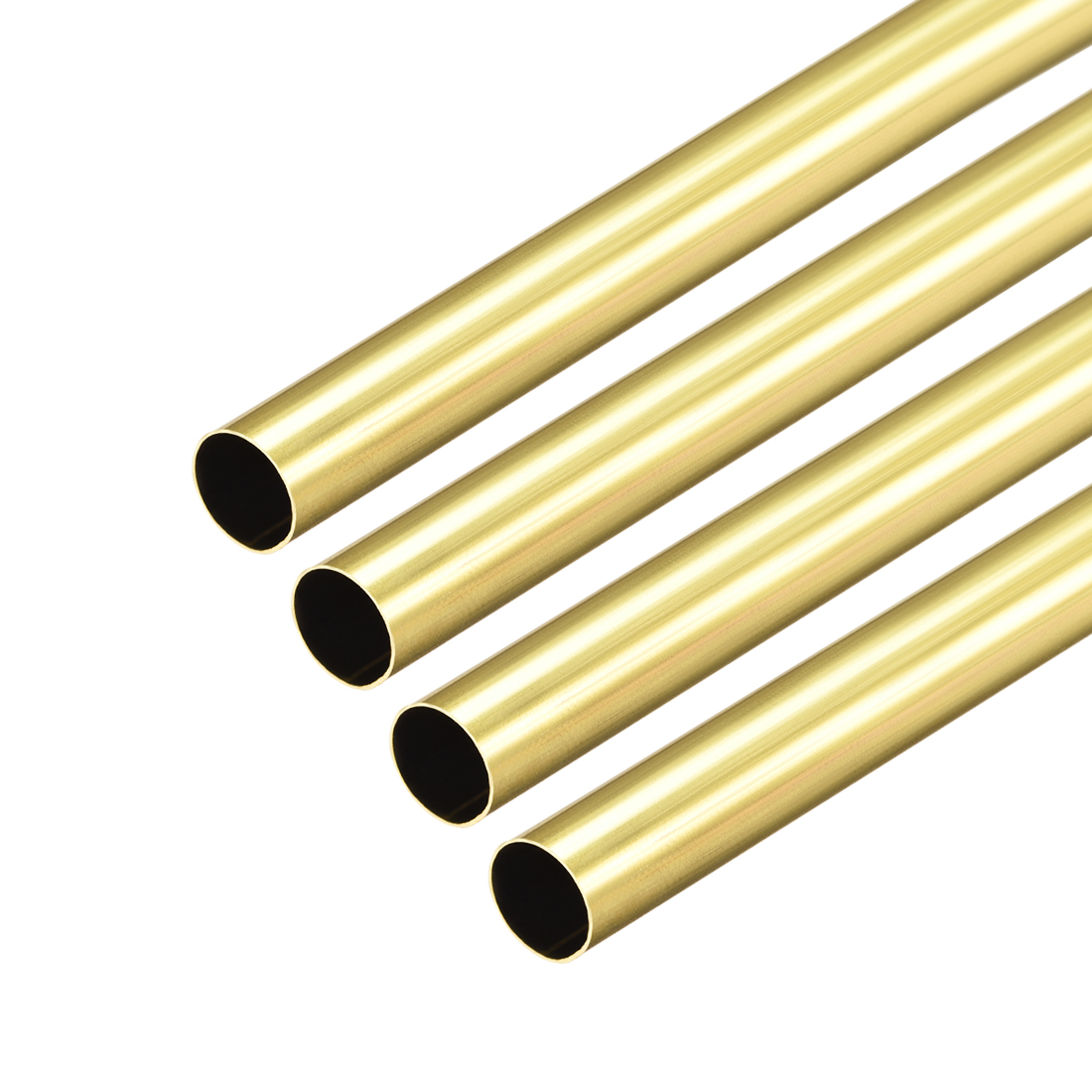 Uxcell Brass Round Tube 300mm Length 7mm OD 0.2mm Wall Thickness Seamless Straight Pipe Tubing 4 Pcs