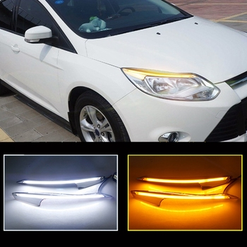 Car Headlight Eyebrow Decoration Turn Signal DRL LED Daytime Running Light for Ford Focus 3 MK3 2012-2015