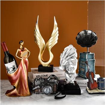 Twórczy złoty ozdoby metalowe złote figurki akcesoria do dekoracji domu ozdoby ślubne mody W3850 tanie i dobre opinie
