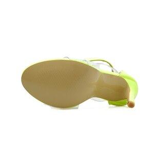 Image 5 - Kcenid 2020 nowe pcv buty kobieta moda kobiety letnie sandały sexy wysokie obcasy kobieta otwarte sandały na zamek błyskawiczny wygodne sandały zielony