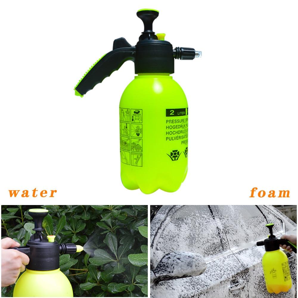 Hand Pump Foam Sprayer Hand Pressurized Foam Sprayer 2 Litre Pressure Foam Cannon Snow Foam Nozzle Carwash Car Window Cleaning