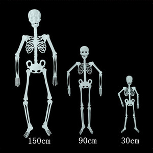 Image 3 - Scary Halloween Decoration Halloween Props Luminous Hanging Decoration Outdoor Party Horror Luminous Movable Skull Skeleton