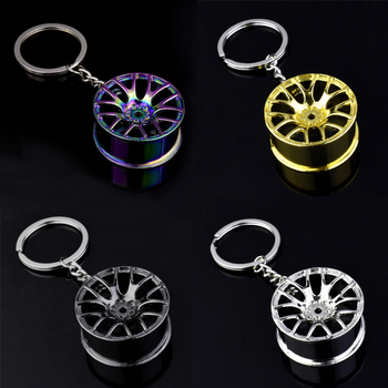 Luxury Wheel Hub Key Chain Zinc Alloy Tire Styling Car Ring Auto Modification Parts Holder For Ford Accessories