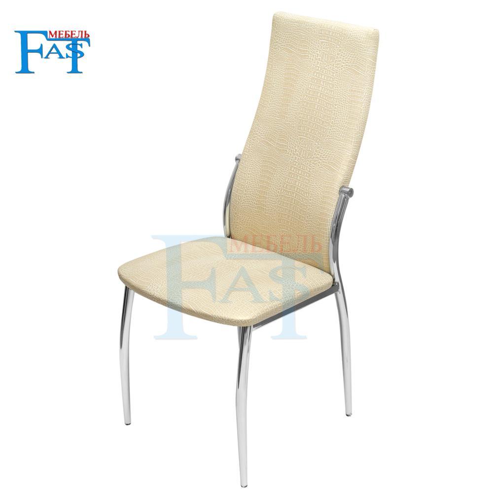 4 pces o couro artificial, cadeira de jantar, cadeira de cozinha e cadeira de ferro são brancos. De acordo com a cozinha da família furn