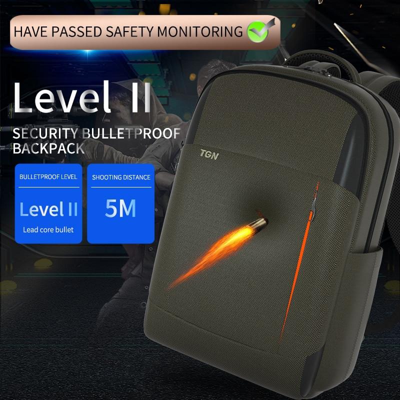 Tigernu 2020 New Bulletproof Material Backpack Level II Stand Alone Ballistic Panel  Men Travel  Backpack Large Capacity Mochila
