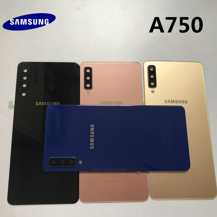 Samsung Galaxy A7 A750 A750F A750FD 2018 Battery Back Cover Door Housing Replacement Repair Parts+ear Camera Glass Lens Frame