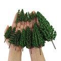 Модель сосновые деревья зеленые шины пластик для леса O HO TT N масштаб модель железной дороги макет миниатюрный пейзаж S0901