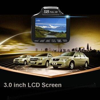 Car DVR Camera Dash Cam 3 in 1 Radar Detector 3.0 inch GPS HD 1080P Registrar Video Recorder