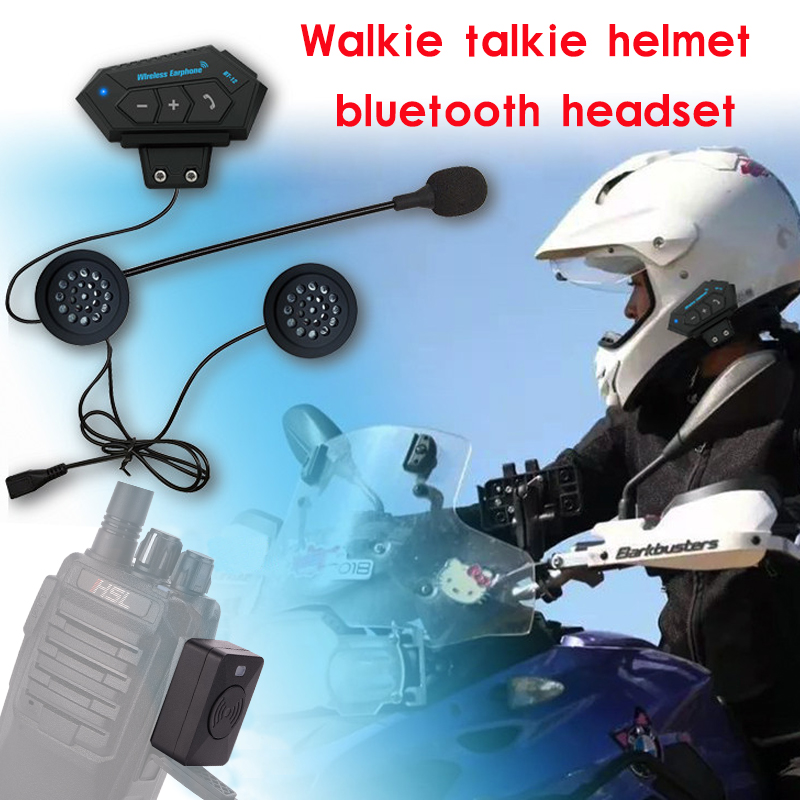 Motorcycle Helmet Walkie Talkie Hands-free Helmet Bluetooth Headset Wireless Headphones For Bike Car Locomotive Helmet Earphone