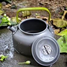 0,8 л складной ручка алюминий сплав кемпинг вода чайник походы пикник на открытом воздухе оборудование портативный кемпинг посуда вода чайник