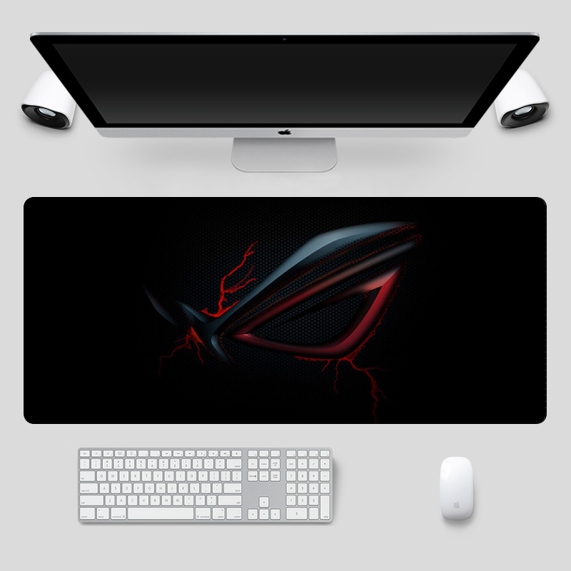 Image 2 - Fashion 90x40cm Large ASUS Gaming Mousepad  Republic Of Gamers Keyboard Pad  Locking Edge Rubber Laptop Notebook Desk MatMouse Pads   - AliExpress