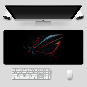 Image 2 - Fashion 90x40cm Large ASUS Gaming Mousepad  Republic Of Gamers Keyboard Pad  Locking Edge Rubber Laptop Notebook Desk Mat