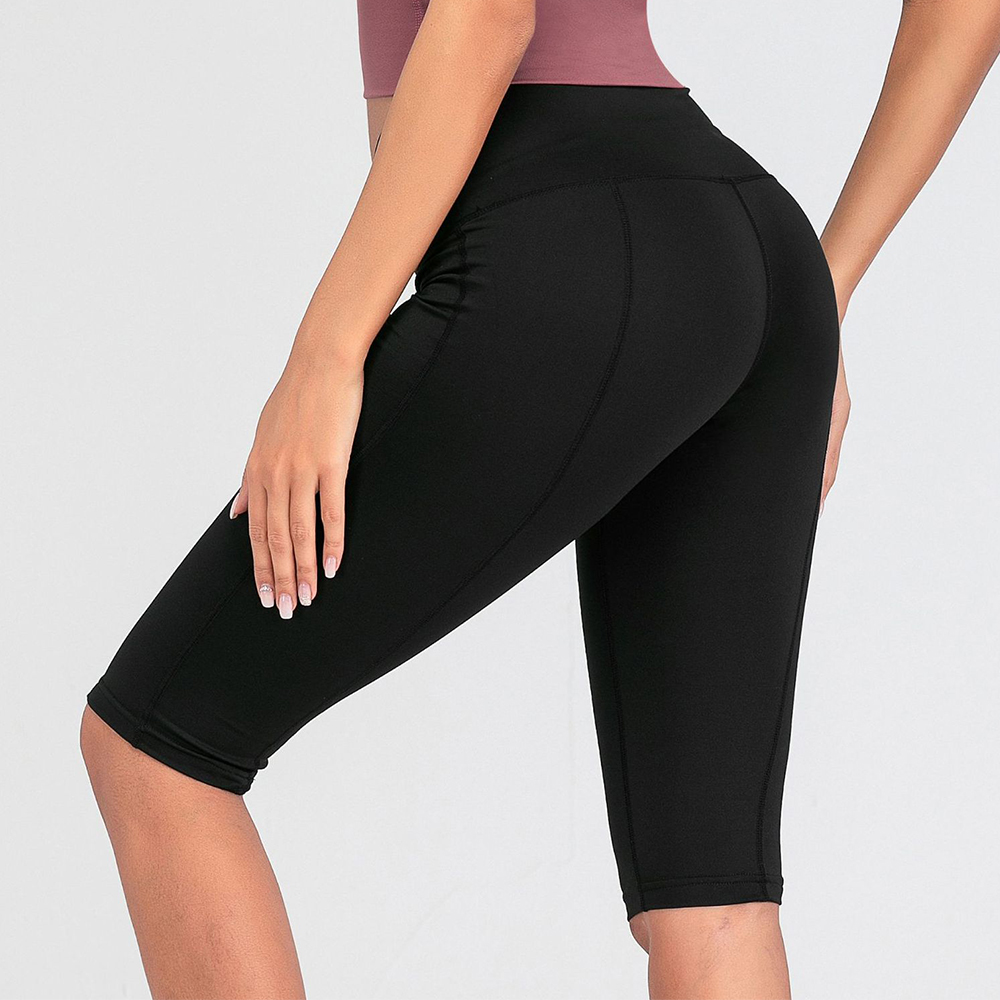 Women Thin Fitness Short Pants Casual Ladies Slim Pants High-Waist Summer Bottom Knee-Length Black Shorts Bodycon Streetwear