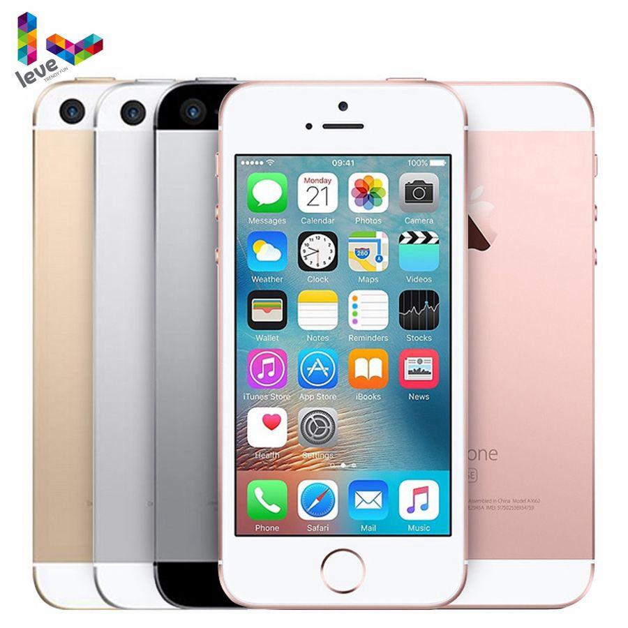 Originais Apple iPhone Desbloqueado SE Dual Core 4G LTE Smartphones Caixa Selada 2GB RAM 16/32/ 64GB ROM Fingerprint ID de Toque Celular
