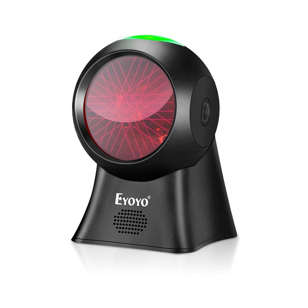 Eyoyo 1d scanner de código de barras com fio usb plataforma leitor de código de barras scanner com detecção automática de digitalização para armazém