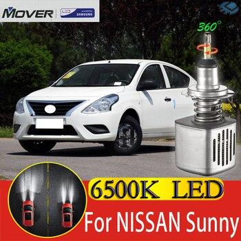 Car Headlight Bulbs LED Provided By SAMSUNG For Nissan Sunny Nissan Latio LED Car 6500K White Light Auto Headlight  2X