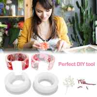 Clear Silicone Bracelet Mould DIY Resin Ring Open Design Jewelry Transparent Glue Mold