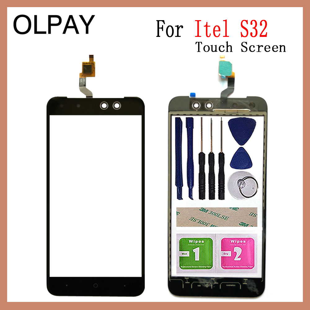 OLPAY 5.5'' Inch Mobile Phone TouchScreen For Itel S32 Touch Screen Glass Digitizer Panel Lens Sensor Glass Repair