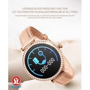 Image 4 - Kobieta inteligentny zegarek kolorowy ekran Sport Tracker IP68 wodoodporny tętno ciśnienie krwi kobiece przypomnienie okresu fizjologicznego