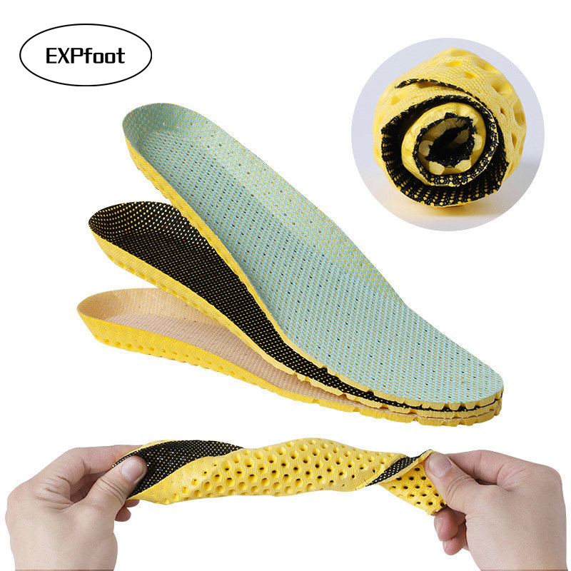 Stretch Breathable Deodorant Running Cushion Insoles For Feet Man Women Insoles Insoles