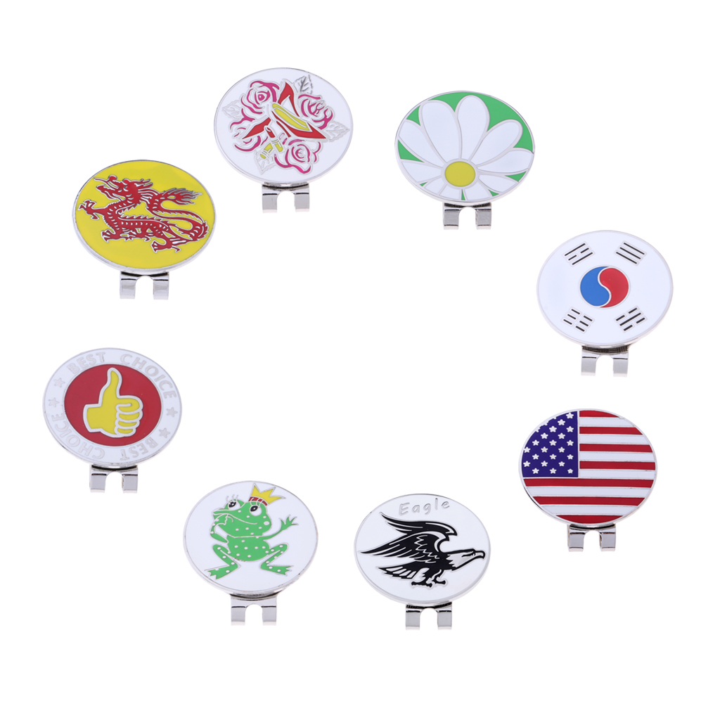 Compact Magnetic Golf Hat Clip With Detachable Ball Marker For Cap Visor Golfer Gift Souvenir Brooch