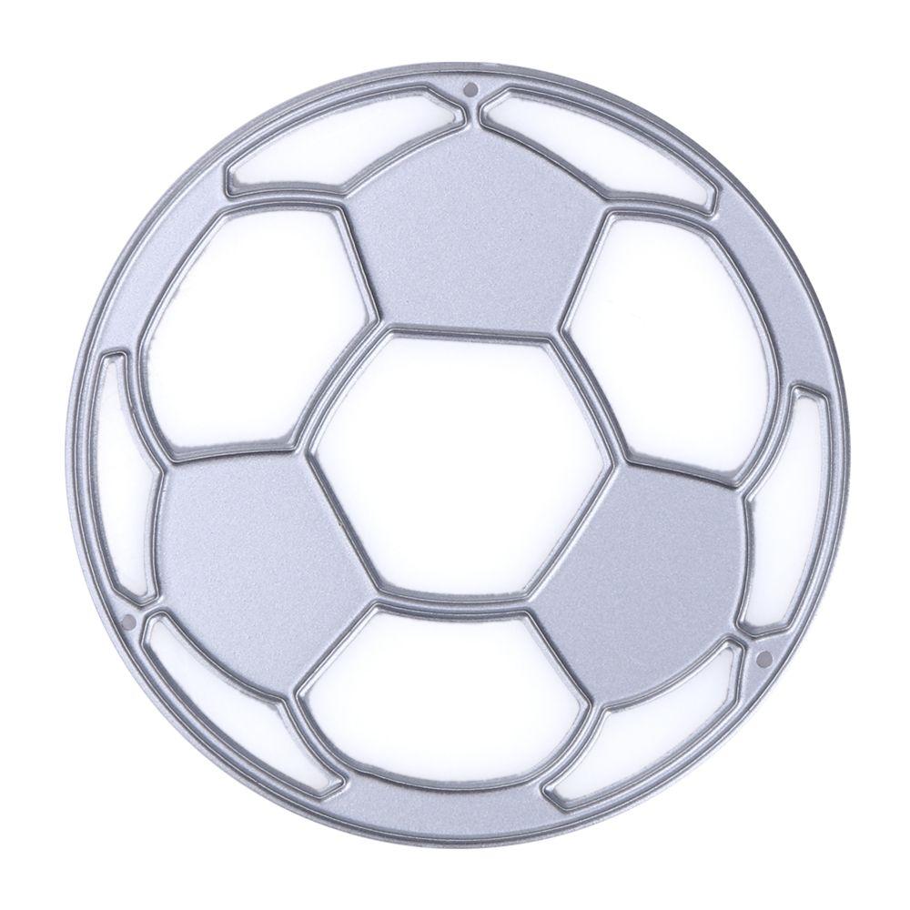 Molde de metal para corte de futebol, estêncil de metal para faça você mesmo, feito à mão, aço carbono, álbum de recortes, cartão de papel