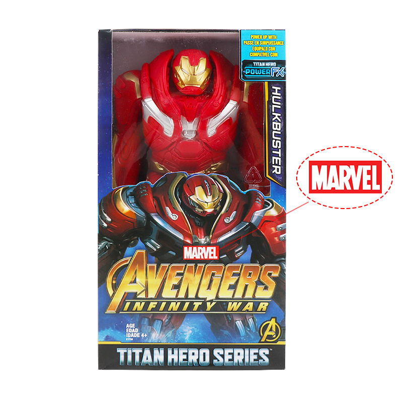 30cm Marvel Avengers Toys Thanos Hulk Buster Spiderman Iron Man Captain America Thor Wolverine Black Panther