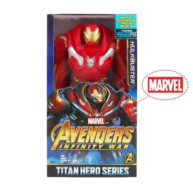 30cm marvel vingadores brinquedos thanos hulk buster homem de ferro capitão américa thor wolverine pantera negra figura de ação bonecas