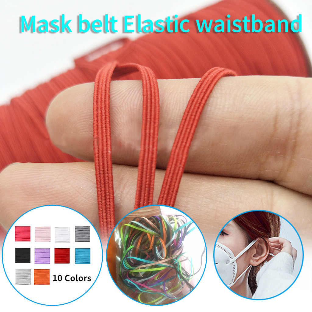 DIY Elastic Band Multicolor Width 6mm Homemade Mask Rope Elastic Band