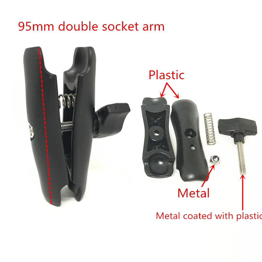 Double Socket Arm for 1-Inch Ball Bases (6)__check