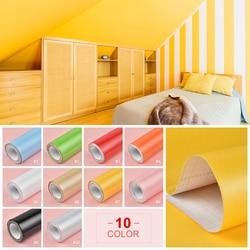 3M/5M farba wodoodporna winylowa folia dekoracyjna samoprzylepna tapeta rolka do kuchni naklejki na meble dekoracja domowa z pcw 10 kolorów