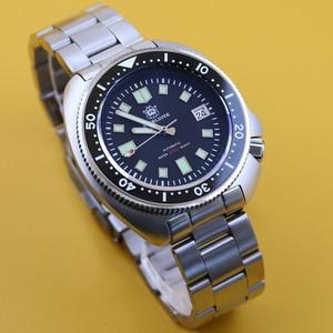 Image 4 - Стальные dive Pro Diver часы 200 м водонепроницаемые NH35 автоматические часы мужские сапфировые Кристаллы из нержавеющей стали роскошные механические часы для дайвинга