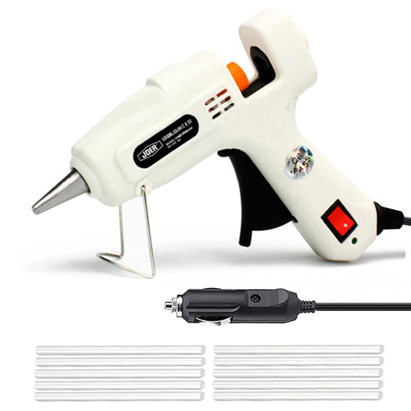 Pistola de pegamento de fusión en caliente para coche, Mini pistolas adhesivas de silicona, herramientas de calor de reparación eléctrica Industrial, bricolaje, 12V, 220V