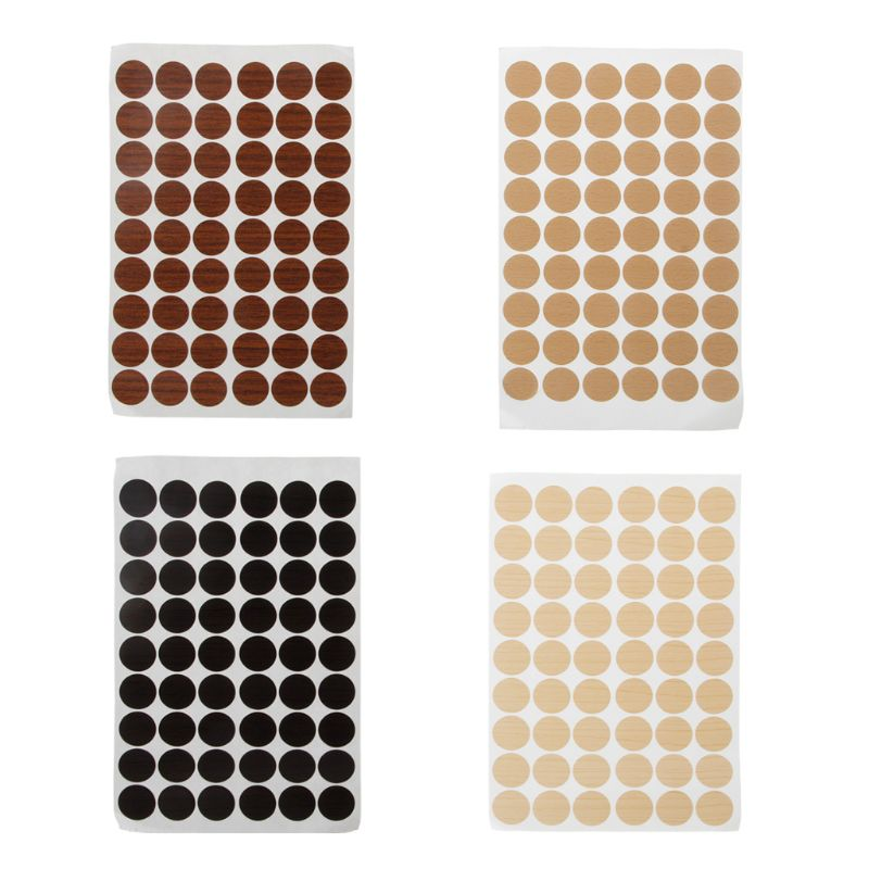 60Pcs 20mm Wooden Furniture Self Adhesive Cabinet Screw Cap Covers Hole Stickers