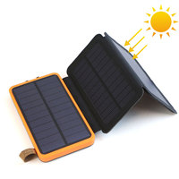 Power Bank 30000 Solar Power Bank Water-resistant Phone External Battery Powerbank Charger for Huawei iPhone Samsung iPad.