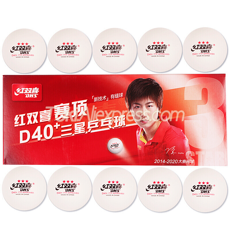 DHS 3-Star D40+ <font><b>Table</b></font> <font><b>Tennis</b></font> <font><b>Ball</b></font> <font><b>ABS</b></font> Plastic Original DHS 3 STAR Ping Pong <font><b>Ball</b></font> image