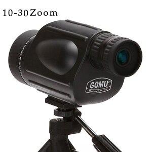 Gomu 10-30X50 HD зум Монокуляр птица часы Высокое качество азота водонепроницаемый телескоп Бинокль для охоты ударопрочный штатив