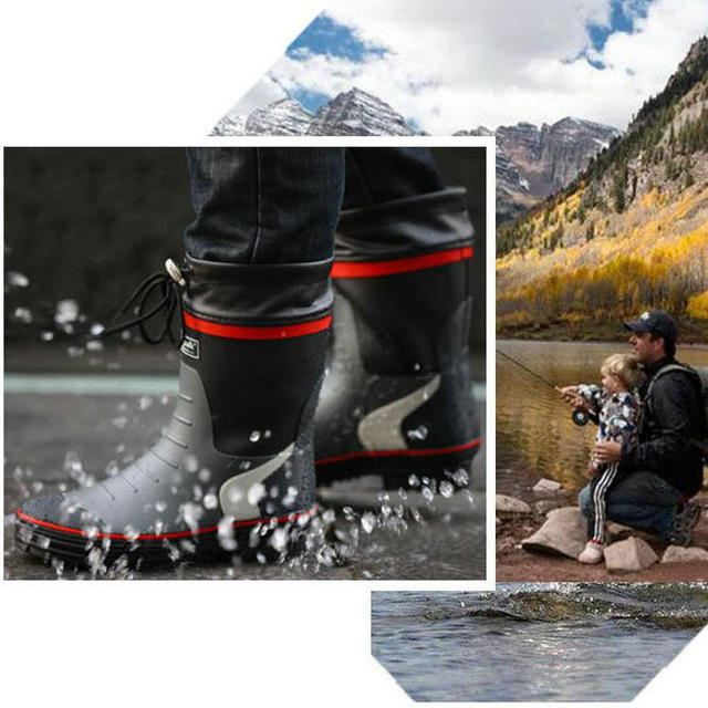 Cuculus 2021 Winter Camouflage Snow Men Boots Rain Shoes Waterproof With Plush Warm Male Casual Mid-Calf Work Fishing Boot 2119 6