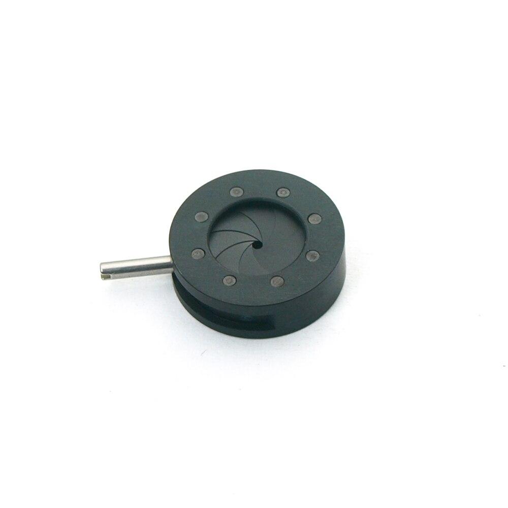 Adjustable 1-12mm Mechanical Iris Diaphragm Aperture For Microscope Camera Adapter Monitor Condenser